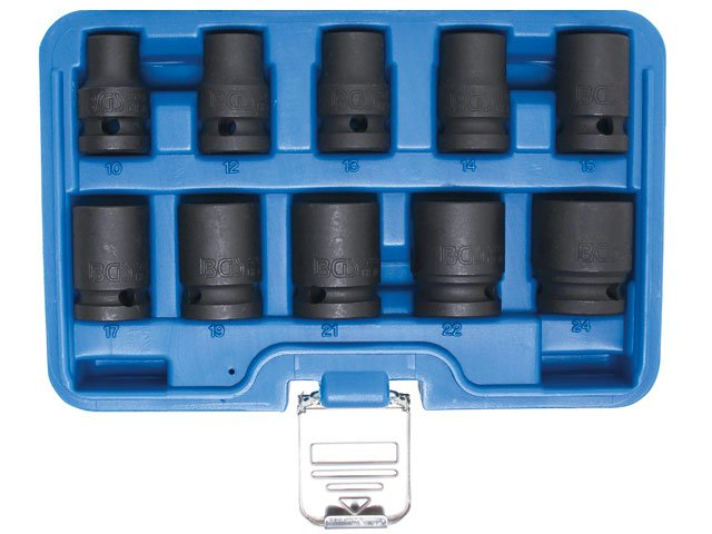 set 10 chei tubulare impact 12 10-24mm bgs 5205