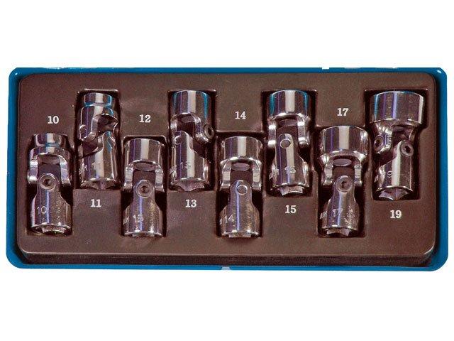 set 8 chei tubulare cu articulatie cardanica 38quot 10-19mm bgs 240