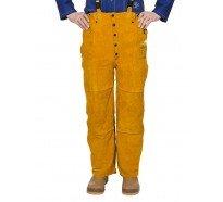 44-2600 golden brown pantaloni de sudura din spalt de vita