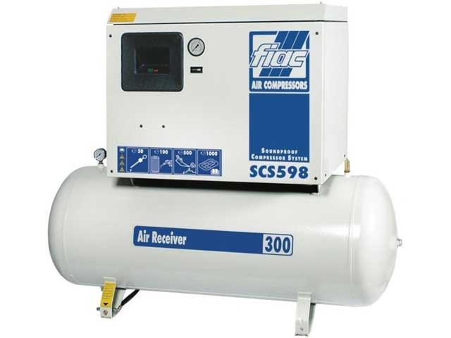 compresor cu piston insonorizat fiac scs598300