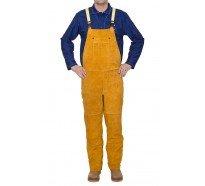 44-2648 golden brown pantaloni de sudura cu pieptar