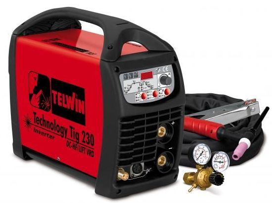 aparat sudura tip tig telwin technology 230 dc-hf lift vrd acx