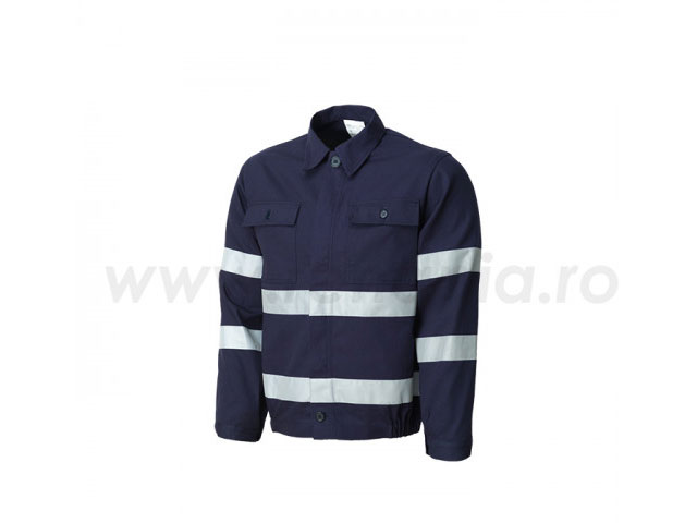 jacheta cu benzi reflectorizante warning