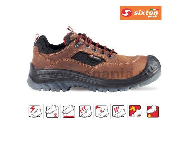 pantof de protectie cu bombeu compozit si lamela brown land