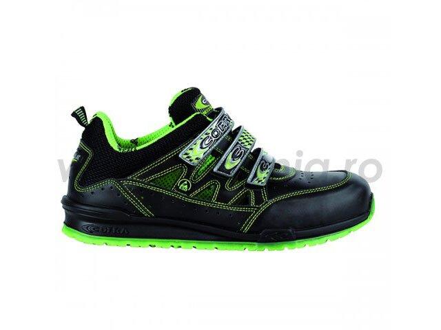 pantof de protectie esd cu bombeu aluminiu si lamela davenport-lime s1p