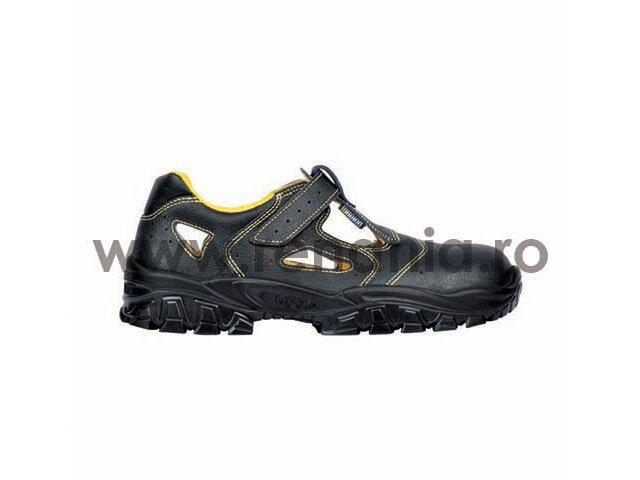 sandale de protectie cu bombeu metalic si lamela antiperforatie new-don s1p