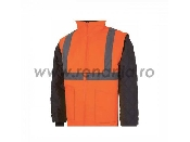 jacheta cu maneci detasabile reflectorizanta portocalie liverpool