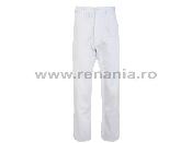 pantalon standard alb teo white